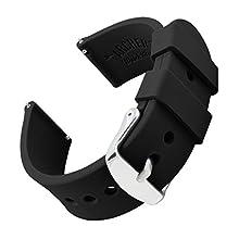Archer Watch Straps | Ricambio di Cinturino di Silicone per Uomo e Donna, Caucciù Sgancio Rapido per Orologi e Smartwatch | Nero, 20mm