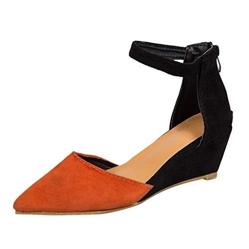 Berimaterry Sandalias Mujer Verano 2019 Fiesta Zapatos con Tacon y Correa de Tobillo para Mujer Zapatos...