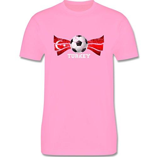EM 2016 - Frankreich - Turkey Fußball Vintage - Herren Premium T-Shirt Rosa