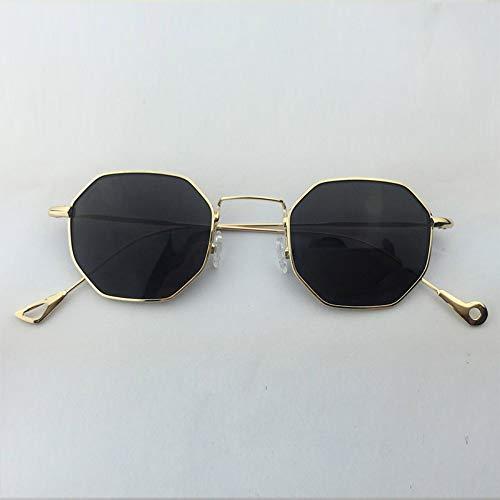 WDDYYBF Sonnenbrillen - Sechskant Sonnenbrille Frauen Mit Kleinem Rahmen Polygon Sonnenbrille Männer Designer Objektiv Sonnenbrille Weiblichen Uv400
