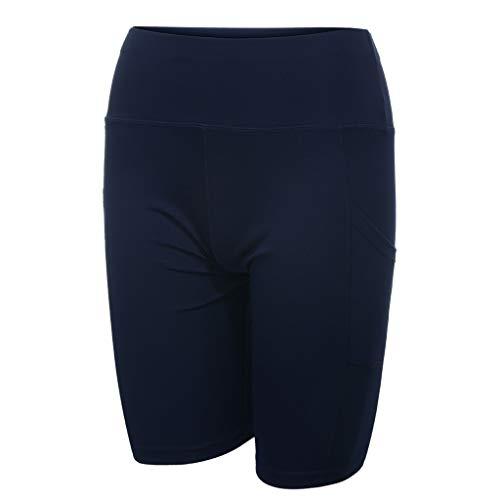 Yowablo Damen Shorts Badepants Sweatshorts Sport Shorts Trainingsshorts Kurze Jogginghose Boxer Shorts Kurze Hose Boxershorts Bermudas Sunbrief (M,2Blau)