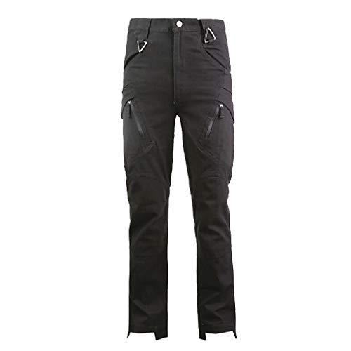 Herren Hose - Modell Kyle Slim fit - Chinohose Casual mit Stretch Jogger Designer Hose Strandhosen Leinen Hose (Junioren Neon-kleider)