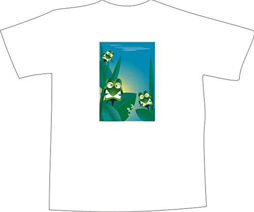 T-Shirt F1125 Schönes T-Shirt mit farbigem Brustaufdruck - grüne Schlange  Kind Schwarz ...
