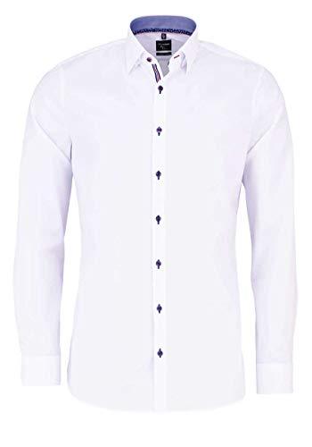 OLYMP No. Six super Slim Hemd Stretch extra Langer Arm weiß Größe 41