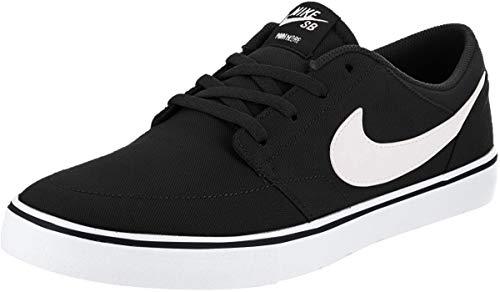 Nike Unisex-Erwachsene Sb Portmore Ii Solar CNVS Skateboardschuhe, Schwarz (Black/White 010), 43 EU