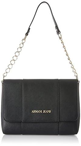 Armani Jeans Borsa A Tracolla, Sacs portés épaule femme, Schwarz (Nero), 19x10x27 cm (B x H T)