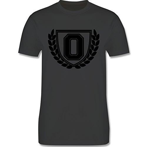 Anfangsbuchstaben - O Collegestyle - Herren Premium T-Shirt Dunkelgrau