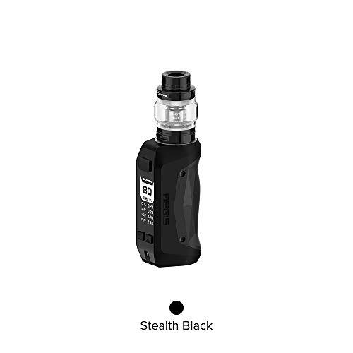 Original Geekvape Aegis Mini 80W Kit, E zigarette Starter Kit Vape Mod Vaporizer mit Atomizer Cerberus Tank-Ohne Nikotin Ohne Tabak (Stealth Schwarz) - Super Mini-zigarette