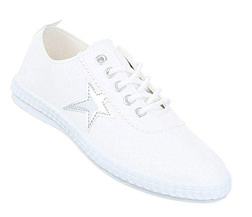 Damen Freizeitschuhe Schuhe Sneakers Sportschuhe Turnschuhe Sportschuhe Silber