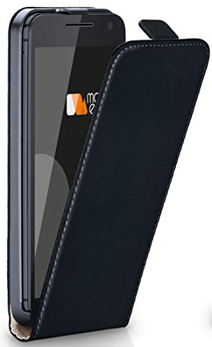 moex® Flip Case mit Magnetverschluss [Rundum-Schutz] passend für Motorola Moto G3   360° Handycover aus feinem Premium Kunst-Leder, Schwarz (Alte Flip-telefone Motorola)