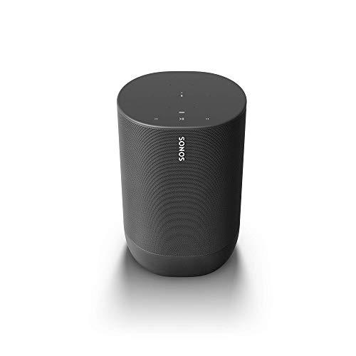 Sonos Move - Altavoz inteligente con Alexa integrada, portátil y resistente, con batería integrada, para escuchar música dentro y fuera de casa, color negro