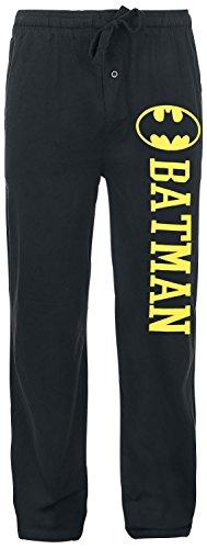 Batman Logo Pyjama-Hose schwarz (Damen Unterwäsche Batman)