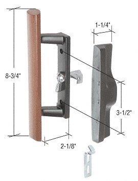 C.R. LAURENCE C1241 CRL Wood/Black Internal Keyed Lock Handle Set 3-1/2 Screw Holes by C.R. Laurence -