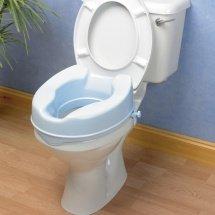 Ability Superstore 4-Zoll Balmoral Toilettensitz-Erhöhung mit Deckel, hellblau