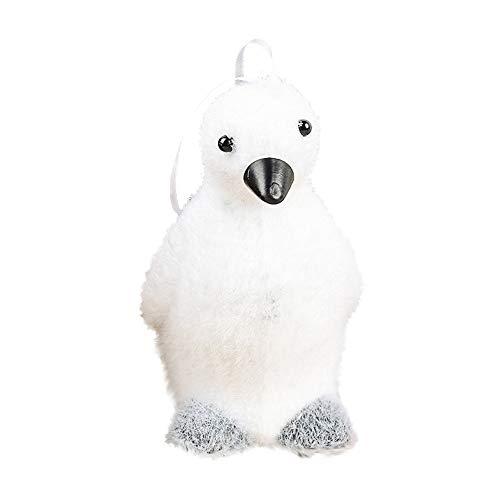 uy 1 Stücke Weihnachtsschmuck Weihnachtsbaum Anhänger Weihnachten Cartoon Puppe Stil Weiß Cute Bear Deer Foam Kinder Geschenk Hause ()