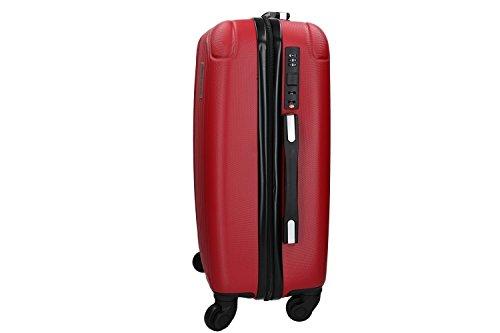 31Cn515a9fL - 3 Maletas rígidas PIERRE CARDIN rojo 4 ruedas cabina para viajes VS213