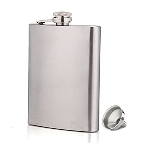 Hip Flask for Men Stainless Steel 7oz Hip Flask Gift Set with Funnel
