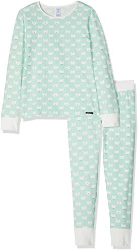 d2e325af6a6858 Skiny Mädchen Lovely Dreams Sleep Girls Pyjama lang Zweiteiliger Schlafanzug,  Mehrfarbig (Pistachio Cactus 6617