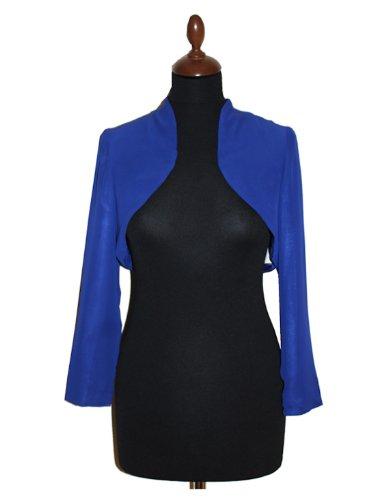 SEXYHER Damen Chiffon/Matt Abendkleid Bolero-Jacke in verschiedenen Farben - Chiffon Bolero Royalblue