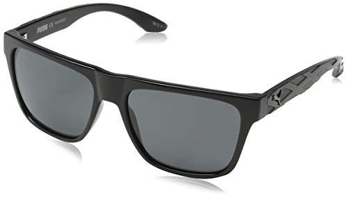 Puma Herren PU0008S 002 Sonnenbrille, Schwarz (Black/Grey), 57 - Sonnenbrille Puma Herren