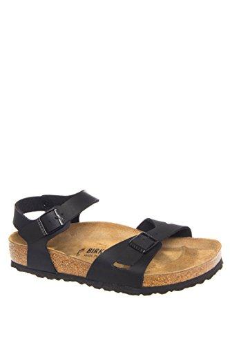 Birkenstock Womens Rio Black Synthetic Sandals 39 EU -