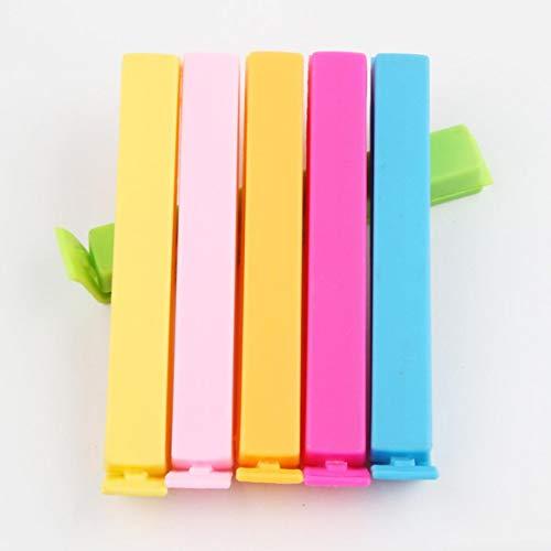 ShengshiZZ Pragmatischer Kunststoff-Aufbewahrungsbeutel für Frische Snacks, Versiegelung, Versiegelungsklammer, für Zuhause - Farben