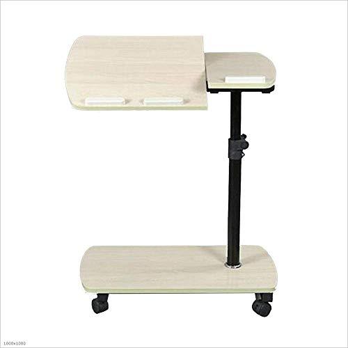 BinLZ-Table Multifunktionaler Hubcomputer Tischliege Bett Buch Esstisch Kinderschreiben, Weißer Ahorn -