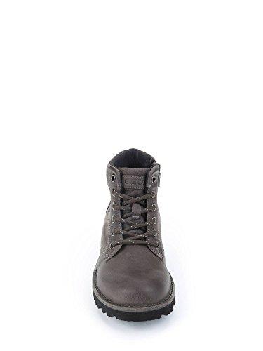 Geox Unisex-Erwachsene Jr Axel Boy E Combat Boots Grau (Dk Grey/Black)