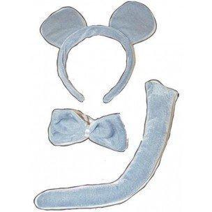 Patyline 43516 Mausset grau (Kostüm Halloween Maus Schwanz Für)