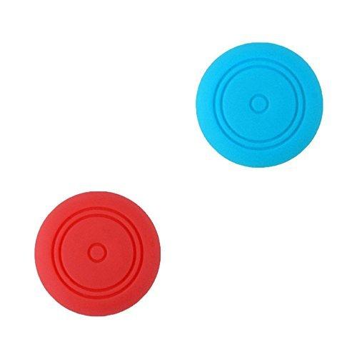 Chickwin pulgar agarre palo thumb grip silicona caps para Nintendo Switch Joy-Con Mando controlador (Rojo Azul 2pc)