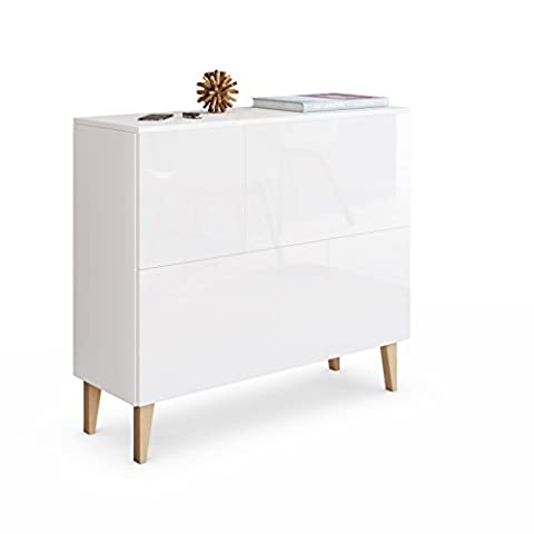 Cabinet Chest of Drawers Rova Deluxe 4T, Carcass in White