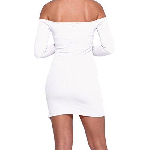 Robe Crayon de Cocktail Jupe Vintage Pin Up Robe Femme Courte Col Bateau Sans Manches Robe de Soirée white