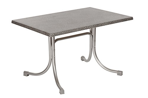 floristikvergleich.de Acamp Boulevard Klapptisch 110×70 platin mosaik grau, Gastronomie geeignet