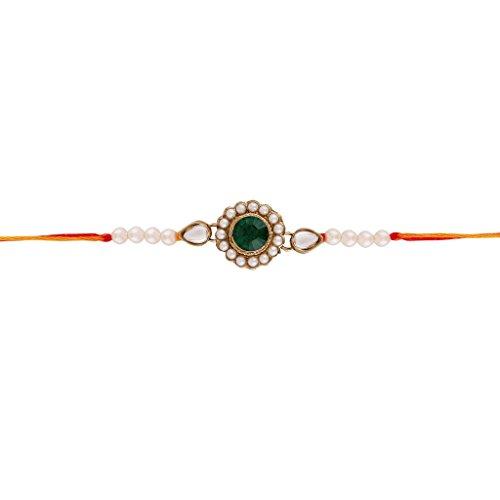 I gioielli da donna Handcrafted Rakhi in pietre e perle (Handcrafted Perle)