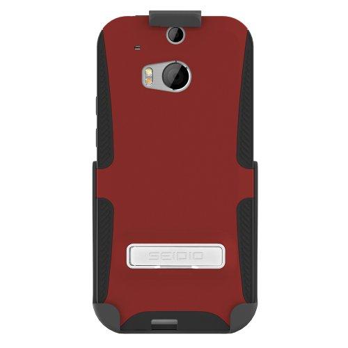 Seidio BD2-HK3HTM8K-GR Dilex Hülle mit metallischen Kickstand und Holster Combo für HTC One (M8) granatrot - Seidio Holster-design