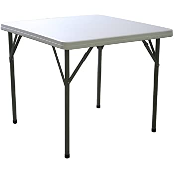 FT2 2ft 10in Square Folding Table With Fold Away Legs, 2 Year Guarantee