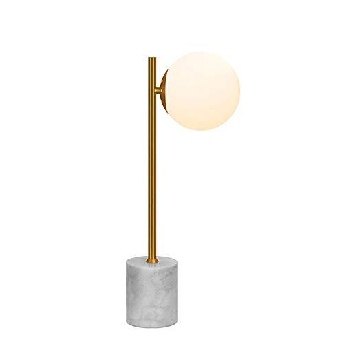 schleuchte, Nordic Simple Tischleuchten Glass Globe Shade Weiß, Comtemporary Desk Light 1 Licht zum Lesen Draft Office ()