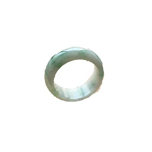 KTT Fengshui Natürlicher Smaragd Jade Ring Chinesischer Edelstein Heilende Energie Reichtum anziehen Viel Glück 15.9mm
