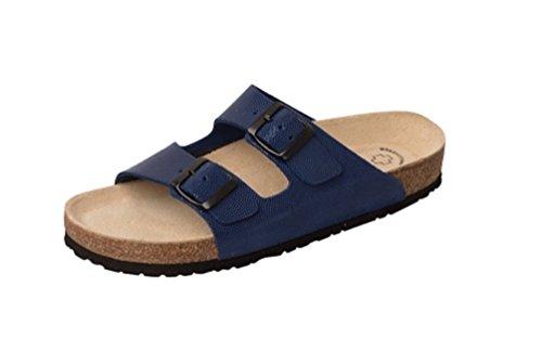 Wörishofener Fußform Bio-Pantolette, Sabot/sandali donna blu reale gepr