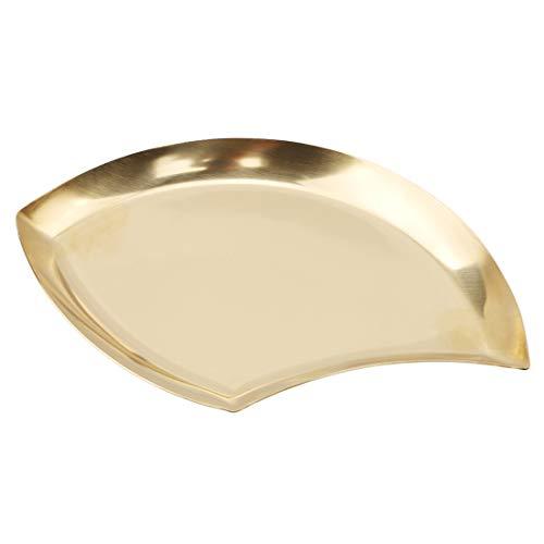 VWH Kreative Blätter Teller Gerichte Snacks Aufbewahrungsschalen Obst Container Kitchen Dinner Set(Gold) Gold-serving Set
