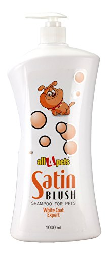 All4Pets Satin Blush Dog Shampoo 1Ltr. (Whiter White Coat)