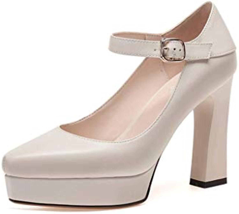 Sandali da da da Donna Impermeabili in Pelle con Tacco Quadrato e Tacco Alto | unico  5164d0