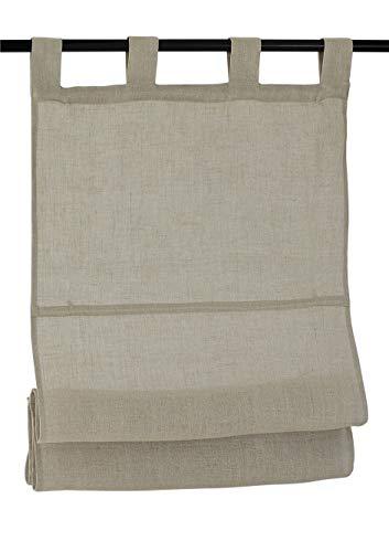 Kutti tenda a pacchetto metis passanti 100% puro lino colore linen (natura) 45 * 140 cm