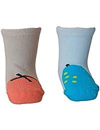 Kidofash Pack of 2 Pair Antislip Socks Antiskid Socks cum Booties for Kids (2 Years to 4 Years Old)