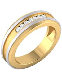 Dare By Voylla Precious 925 Sterling Silver With Gold Plated Cubic Zirconia Ring For Men
