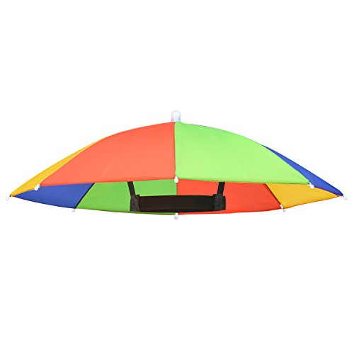Pangda Mehrfarbig Regenschirm Hut Sonnenschirm Mütze Sonnenschutz Hut für Verrücktes Kleid Zubehör