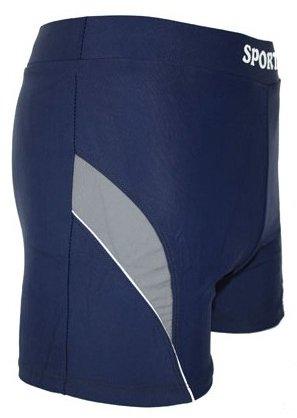 Herren Badehose Badeshorts mit Streifen Sport bunt Typ 777 Blau