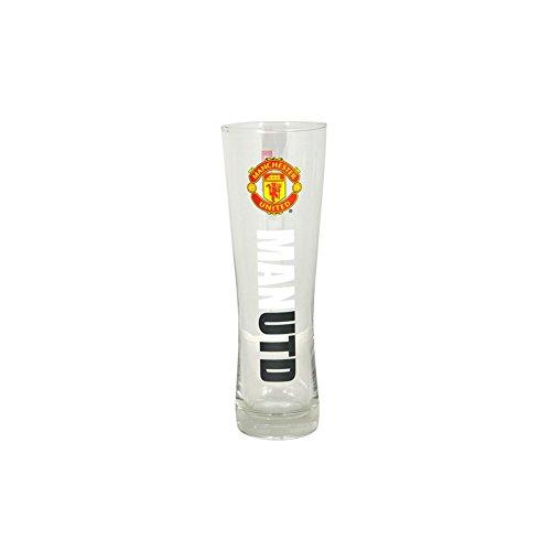 Offizielles Fußball Team Peroni Stil Pint Bier Glas (Verschiedene Mannschaften zur Auswahl.) alle Brillen Werden in offizieller Verpackung, Manchester United FC, Pint