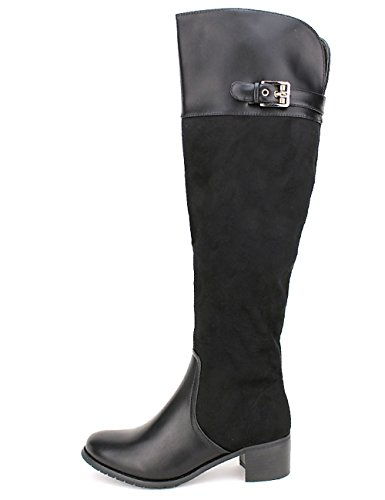 Cendriyon Semi Cuissarde Noire SOXTANE Mode Chaussures Femme