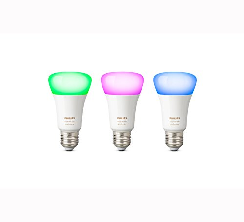 Philips Hue White and Color Ambiance - Pack de 3 bombillas LED E27, 9,5 W, iluminación inteligente, 16 millones de colores, compatible con Amazon Alexa, Apple HomeKit y Google Assistant
